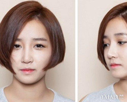 【图】流行沙宣短发发型三七分图片