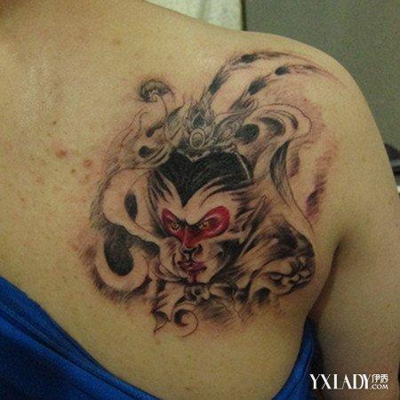 孙悟空地狱火纹身分享展示图片