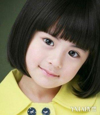 甜美清新短发发型图片短发儿童紫色女图片图片