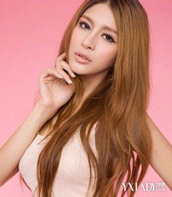 长发中分女神范头像欣赏 4款气质发型推荐图片