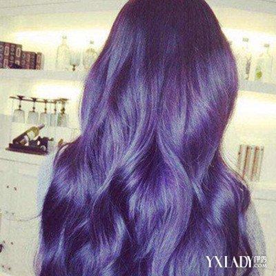 蜡染紫蓝色头发图片 7个小步骤让你美一夏图片