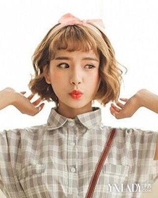 五颗星时尚看点:棕色调韩范短发烫发发型总能展现出图片图片