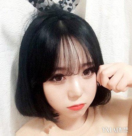 女生大圆脸空气刘海短发发型 让你晋升甜美治愈系文艺妹图片
