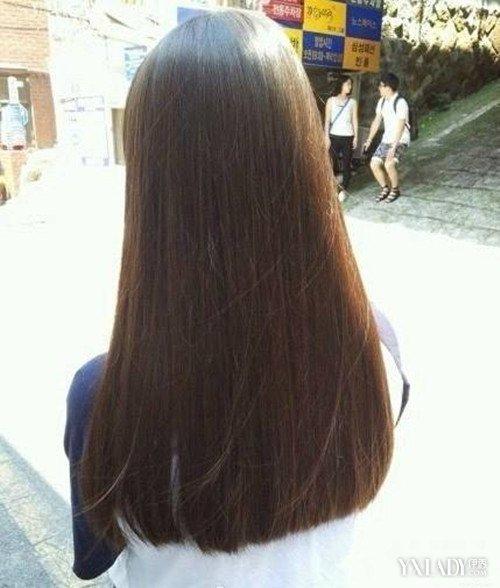 【图】长发平发尾发型 你也可以有一款温婉的齐腰长发图片