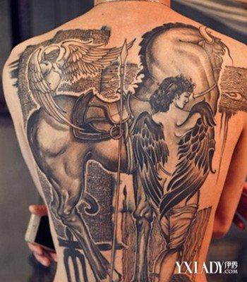 潮流,很个性有范儿哦,下面带来几款欧美时尚的天使翅膀男生纹身图案