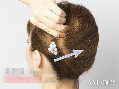【图】韩式u型发簪盘发图解技巧 30秒教你打造韩式魅力盘发图片