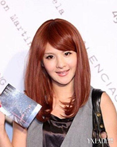 【图】橙红色美中仙气长发演绎别样的发型头发图片v仙气头_图片