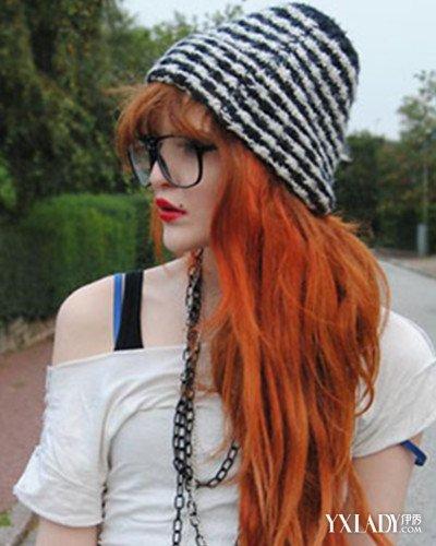 橙红色头发发型图片 演绎别样的仙气美图片