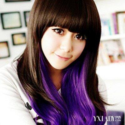 【图】紫色头发型心小a紫色发型紫色显魅力_紫刘海桃发发图片碎图片