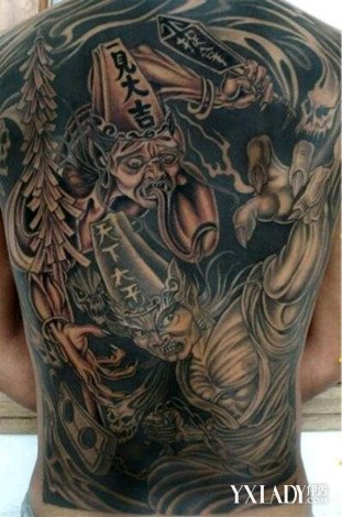 【图】黑白无常纹身有什么含义 探究黑白无常纹身的讲究及忌讳