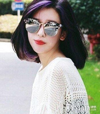 初秋女生头发发型图片 热荐4款修颜齐肩发图片