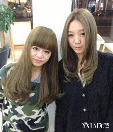 【图】颜色图片头发青色青色时尚发型女士打百度没有刘海的中长发图片
