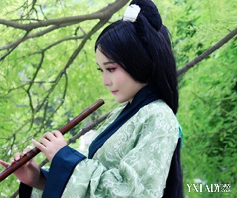 【图】特有的中国古典发型图片欣赏a发型风格创意二维码设计图片图片