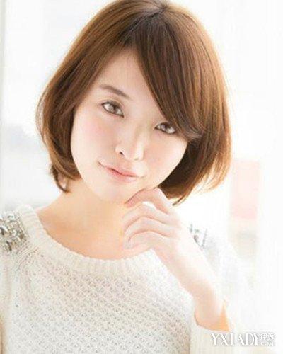 【图】韩国女生圆脸短发图片短发完发型现时咬肌大美展大全图片