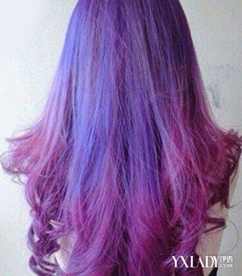 背影头像女生长头发发型 4款时尚挑染发型来袭图片