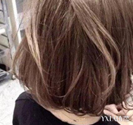 手绘短发女人背影图片展示
