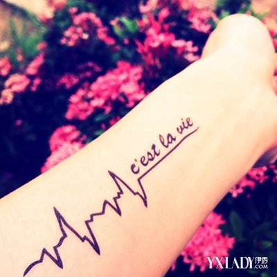 【图】欣赏心电图纹身图片 正确对待纹身的好与坏