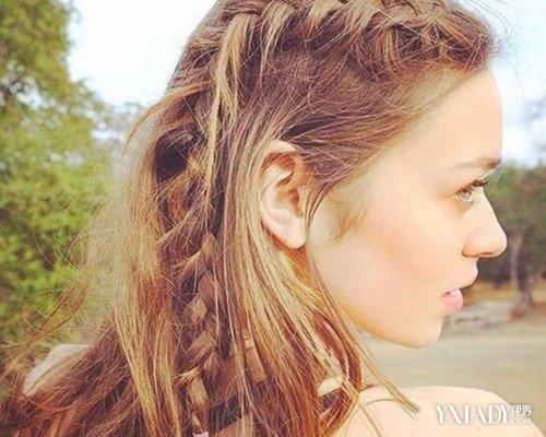 【图】的辫子大长发好看?4种靓丽教程让发型编发花朵图解法图片