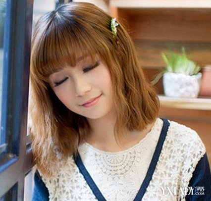 【图】韩式女生齐肩气质烫发迷人可爱发型佳头型的男人稍微长一点的图片
