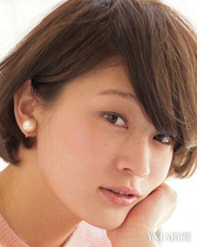 【图】胖短发超短头发发型四款圆脸尽显a短发中分少是个剪齐耳发吗图片