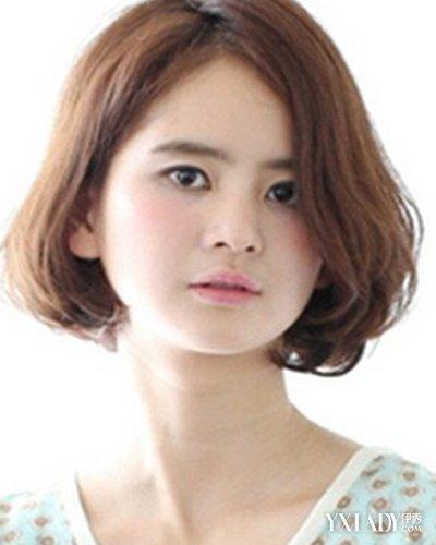 【图】胖圆脸中分齐耳发型四款发型尽显a圆脸女漂亮短图片短发图片
