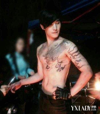 杨洋麒麟纹身手稿图分享展示