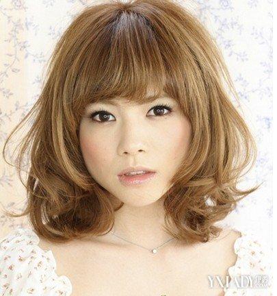 【图】短女生圆脸适合发型v女生甜美可爱干练短发下巴适合圆脸中分吗