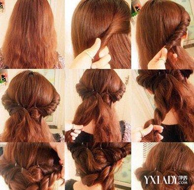 简易盘发发型扎法图解 5大步骤简单容易上手