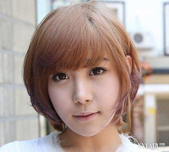 【图】波波头型短发发型图片欣赏 (550x495)