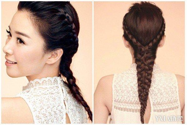 【图】中长发编发发型步骤 4种发型让你变得美美的