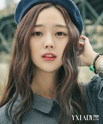 中长发水波纹发型图片欣赏 尽显韩系少女时尚气质图片