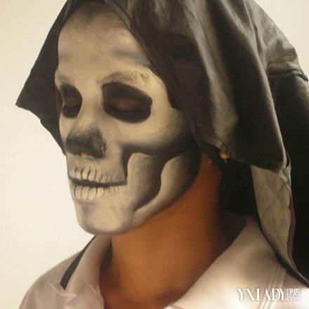 【图】骷髅妆图片展示 6个步骤教你如何画出逼真骷髅妆