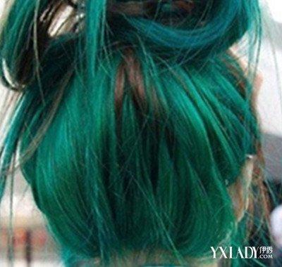 蓝青色头发头像