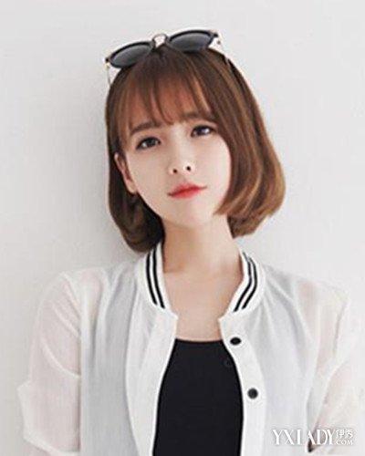 韩范短发内扣发型图片 小清新风味显韩范图片