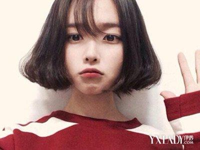 发型 流行发型 正文   空气刘海中长发六: 淑女路线的妹纸最爱的齐图片