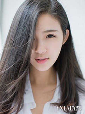 女生发型图片中长发 披肩散发飘图片