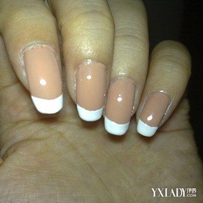 【图】欣赏法式白边美甲图片 盘点指甲的基础修护步骤