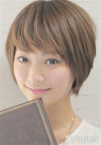 阶梯式直发发型图片展示图片图片