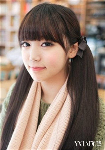 【图】时尚韩式齐刘海马尾发型 突显属于你的甜美学生图片