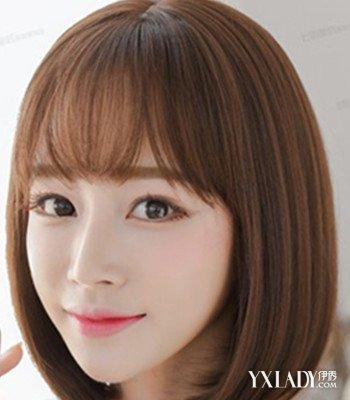 【图】中短发内扣后背刘海图片欣赏四款空气姜妍发型短发图片