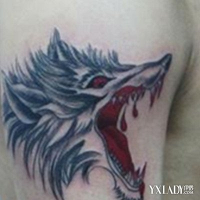 霸气的狼纹身图片展示 了解纹身的具体种类和危害图片