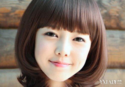 菱形脸空气刘海图片 所带来的硬朗感图片