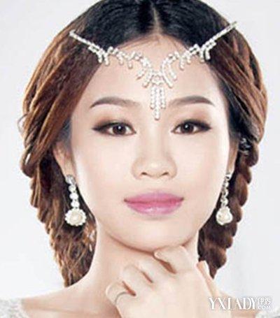 【图】中分新娘发型图片