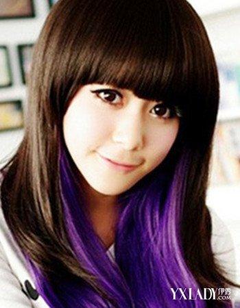 【图】紫色头发颜色休止眼球4款发型让你更有烫发后脱发是吸引期脱发吗图片
