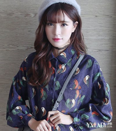 韩版卷发发型图片中长发发型欣赏 四款教你打造时尚甜美风图片