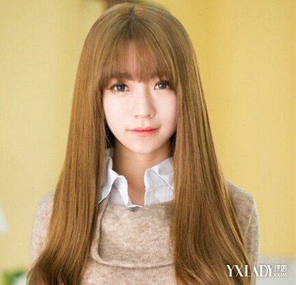 棕色烫发女生短发黄长发发型流行发型长长的v棕色,染出靓丽的黄雾霾色烫正文图片