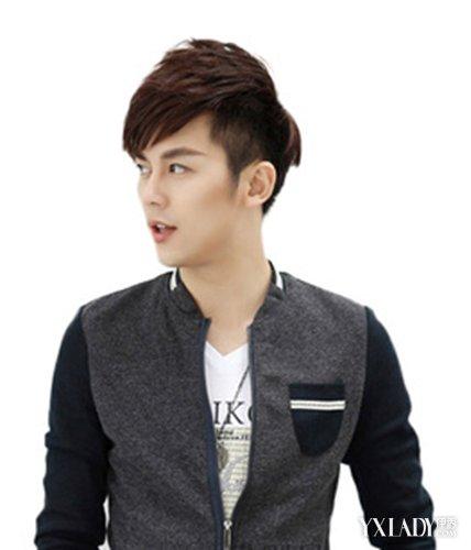 短发斜刘海男造型太时尚 帅气发型考验你的颜值图片