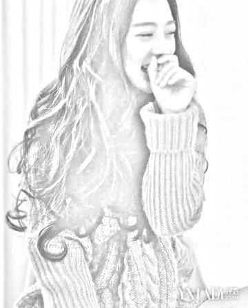 【图】长发美女简笔画大放送 4款长发发型推荐让你美丽过秋冬