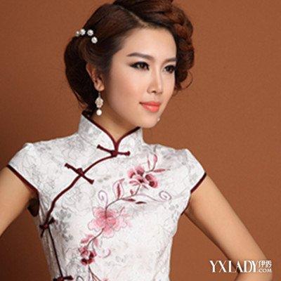 【图】短发新娘旗袍发型盘点 你是这世界上最漂亮的姑娘图片