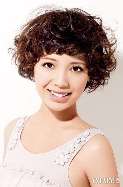 女生短发卷发发型图片╭★diy图片